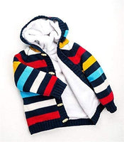 Baby Toddler Boys Girls Striped Long Sleeve Sweaters Cardigan Warm Outerwear Jacket - jackets247.com