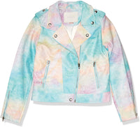 [BLANKNYC] girls Tie Dye Vegan Leather Moto Jacket - jackets247.com