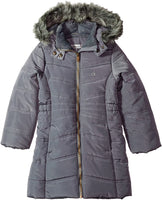 Calvin Klein Girls' Long Puffer Jacket - jackets247.com