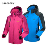 Facecozy Men Women Winter Outdoor Waterproof Hiking Jacket Sports Climbing Trekking Hooded Clothes Camping Hunting Fishing Coats - jackets247.com