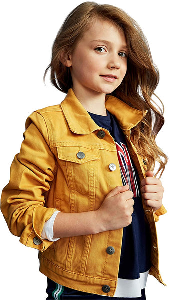 kidpik Girls Jean Jacket – Cute Colored Denim Jackets - jackets247.com