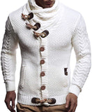 Leif Nelson Men's Knitted Jacket Turtleneck Cardigan Winter Pullover Hoodies Casual Sweaters Jumper LN4195 - jackets247.com