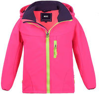 M2C Boys Girls Hooded Windbreaker Fleece Lined Softshell Jacket - jackets247.com