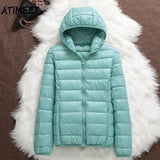 New Women Thin Down Jacket White Duck Down Jackets Autumn And Spring Warm Coats Portable Outwear - jackets247.com