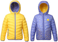 Rokka&Rolla Girls' Lightweight Reversible Water Resistant Hooded Quilted Puffer Jacket Coat - jackets247.com