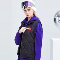 SUPIELD Women's Lightweight Heated Vest with 90% Down Insulation Vest with Battery Pack - jackets247.com