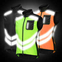 WOSAWE Breathable Reflective Running Jacket Water Resistance Windproof Waistcoat Windbreaker High Visibility Thin Sports Jacket - jackets247.com