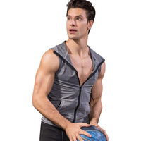 YD High Elastic Men's Jacket Hoodie Quick Dry Sleeveless Running Jacket Sport Vest Gym Fitness Tight Clothing Men's Sportswear - jackets247.com