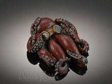 Load image into Gallery viewer, Octopus Wearing Steampunk Goggles Pendant