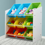 Levede 9 Bins Kids Toy Box Bookshelf Organiser Display Shelf Storage Rack Drawer