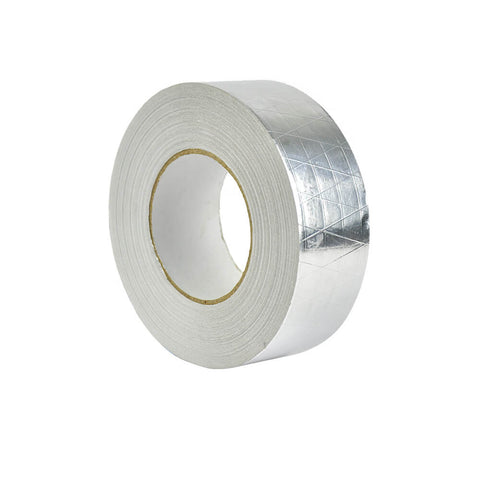 Reinforced Aluminium Foil Tape Insulation Heating Duct Silver 50mm x 50M 5 Pack