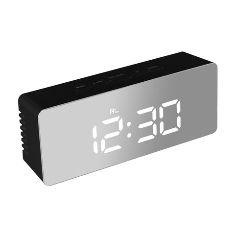 Digital Clock LED Display Desk Table Temperature Alarm Time Modern Home Decor