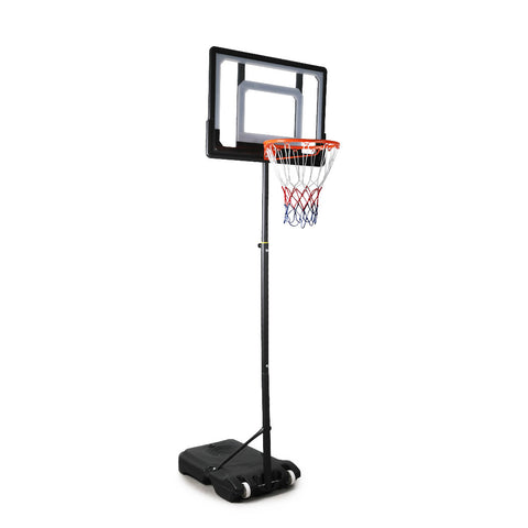 Basketball Hoop Stand System Ring Portable 2.1M Adjustable Height Kids In Ground