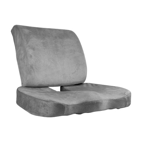 Seat Cushion Memory Foam Lumbar Back Support Orthoped Office Pain Relief Grey