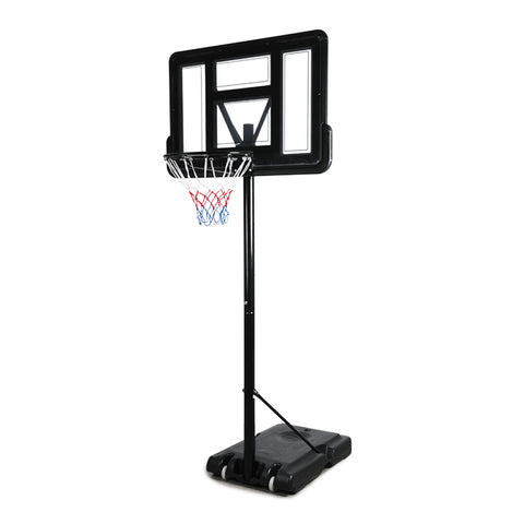 Basketball Hoop Stand System Portable 3.05M Height Adjustable Net Ring In Ground
