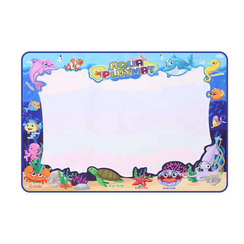 Kids Drawing Mat Aqua Doodle Mat Water Painting Board Magic Writing 6 Pens Toy