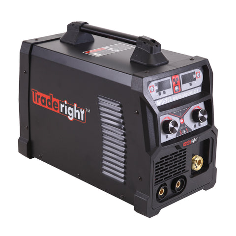 Traderight 200Amp Welder MIG ARC MAG Welding Machine Gas / Gasless Portable