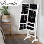 Levede Mirror Jewellery Cabinet Makeup Storage Jewelry Organiser Box Floor Stand