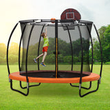 Trampoline Round Trampolines Mat Springs Net Safety Pads Cover Basketball 12FT