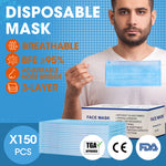 Face Mask Filter Disposable Masks Anti Dust PM2.5 Respirator Air Pollution x150