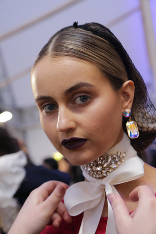 irockjewellery alannah hill runway 2016 melbourne spring fashion week backstage details earrings