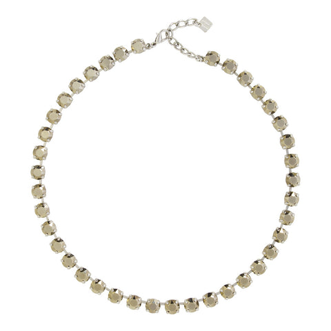 Metallic Queen Small Crystal Necklet