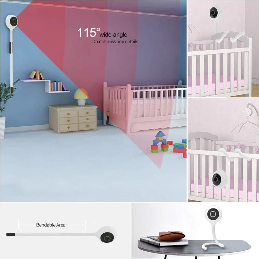Baby Monitor Smart Phone App-Enabled Wireless
