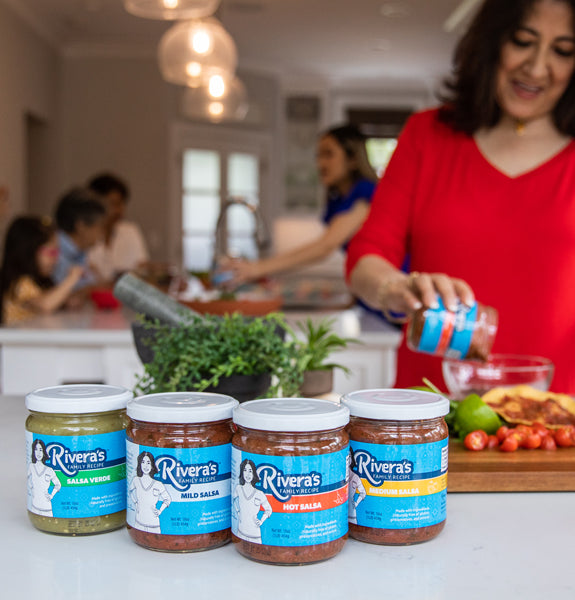 Rivera Family with their Family Recipe Salsa