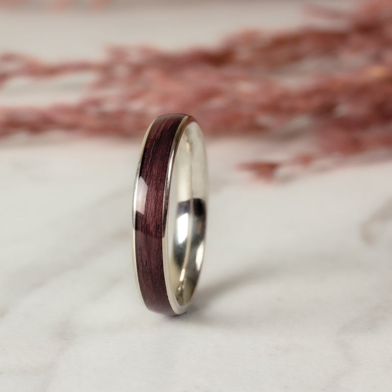 Avery in Purpleheart & White Gold