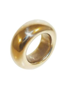 Wide Smooth Organic Bronze Ring