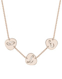 Cut Out Pebble Initial Necklace