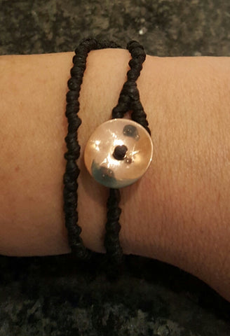 Coji Pebble Knotted Circle Bracelet - Double Wrap