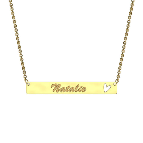 Bold Heart Bar Necklace
