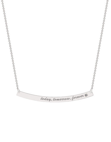 Bold Curve Bar Necklace