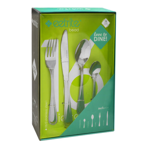 Eetrite Bead 16 Piece Cutlery Set