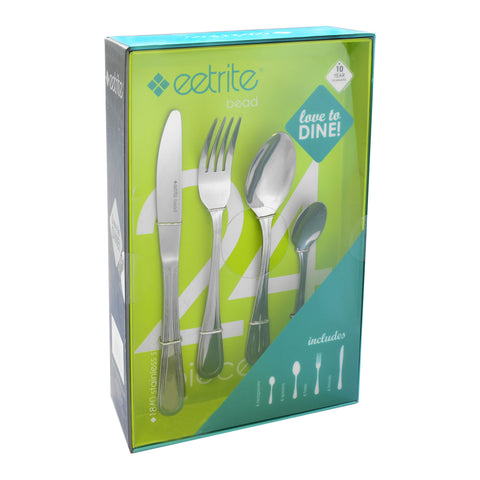 Eetrite Bead 24 Piece Cutlery Set