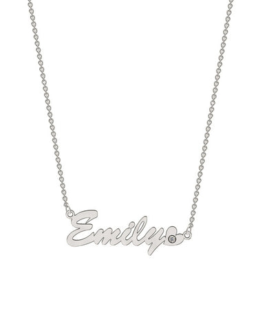 Bold Diamond Name Necklace