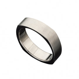 Men's Titanium Ring with Square Sides
