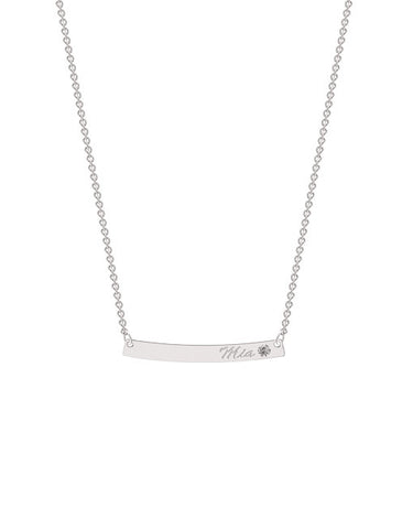 Classic Curve Bar Necklace
