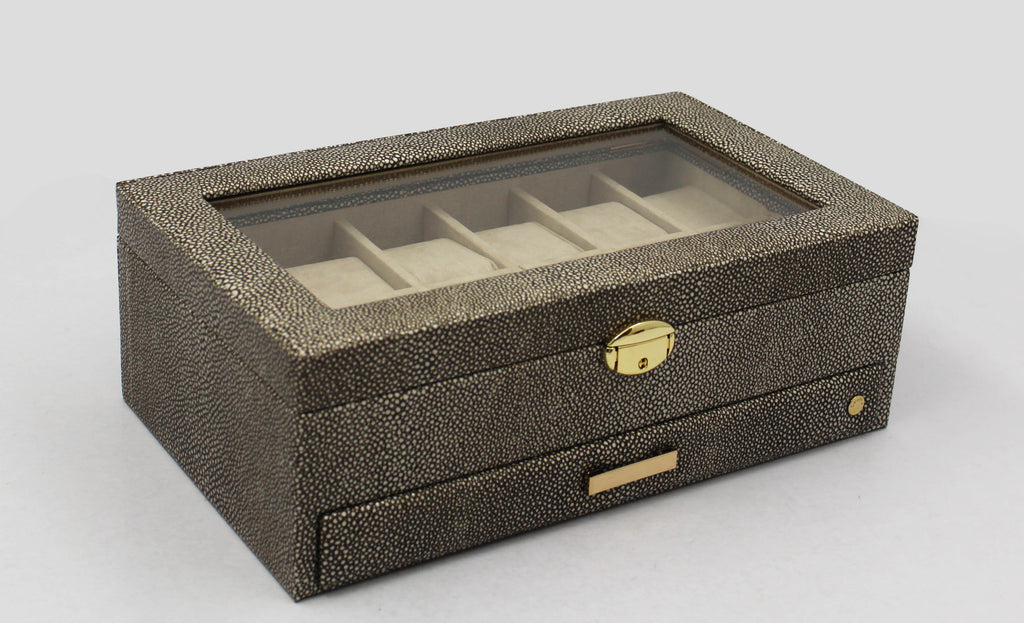 Grey Stingray Watch Box & Valet