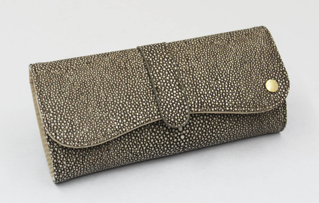 Grey Stingray Jewellery Roll