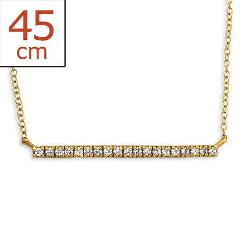 Gold Encrusted Bar Necklace