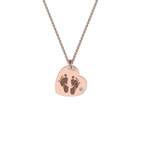 My Family Foot Print Necklace
