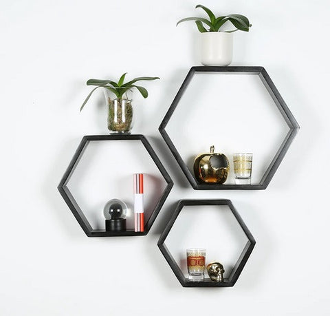 Large Hexagon Shelves