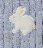 Snuggle Me Fluffy Bunny Cable Knit Blanket