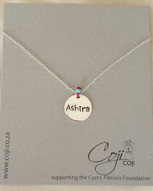 Coji Silver Name Charm Necklace