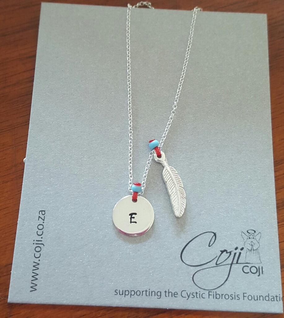 Coji Silver Initial Charm Necklace