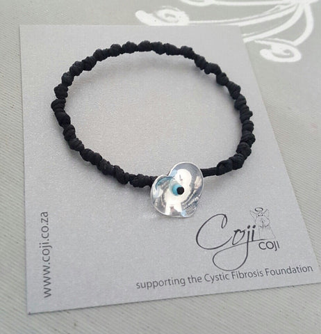 Coji Pebble Knotted Heart Bracelet - Single Wrap