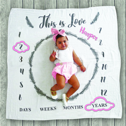 This is Love Milestone Blanket