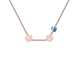 Rose Gold Mini Shape Charm Necklace